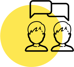 Two people communicating | Customer research